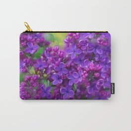 Watercolor Lilac Carry-All Pouch