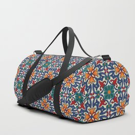Colorful Azulejos Pattern Duffle Bag
