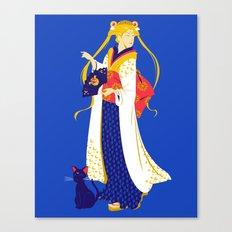Geisha Moon Canvas Print