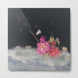 Space Florist Metal Print