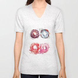Donuts love Unisex V-Neck