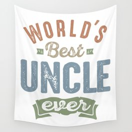 World's Best Uncle Wall Tapestry