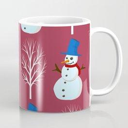 Winter/Christmas - Snowmen And Snowy Trees Coffee Mug