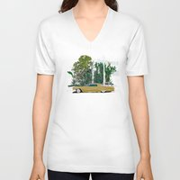 drive V-neck T-shirts featuring Drive by Suzie-Q