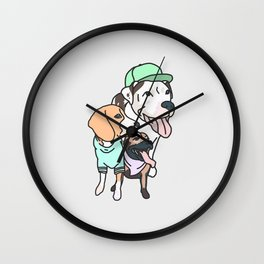 Dog Squad Goals Wall Clock