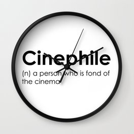 cinephile Wall Clock
