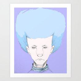 """""""Hair Ball"""" Art Print"""