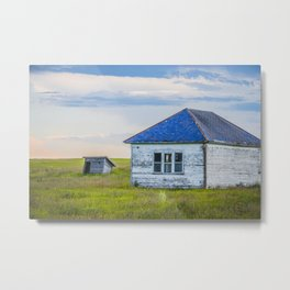 Palmgren Township School, North Dakota 8 Metal Print