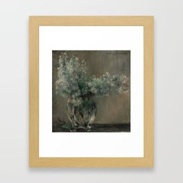 LOVIS CORINTH (Ostpreussen 1858 - 1925 Zandvoort) Still life with white lilacs. Framed Art Print