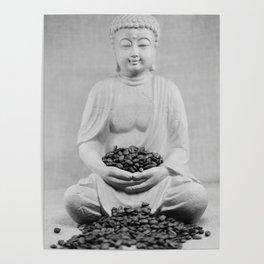 Coffee beans Buddha 2 Poster