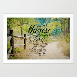 Therese smooth Art Print
