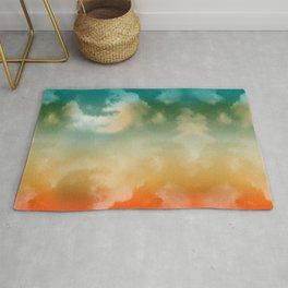 """Orange & Blue Heaven"" Rug"