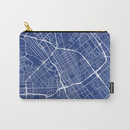 San Jose Map, USA - Blue Carry-All Pouch