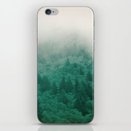 Misty Moody Mountain Forest Fog Northwest Oregon Washington iPhone Skin