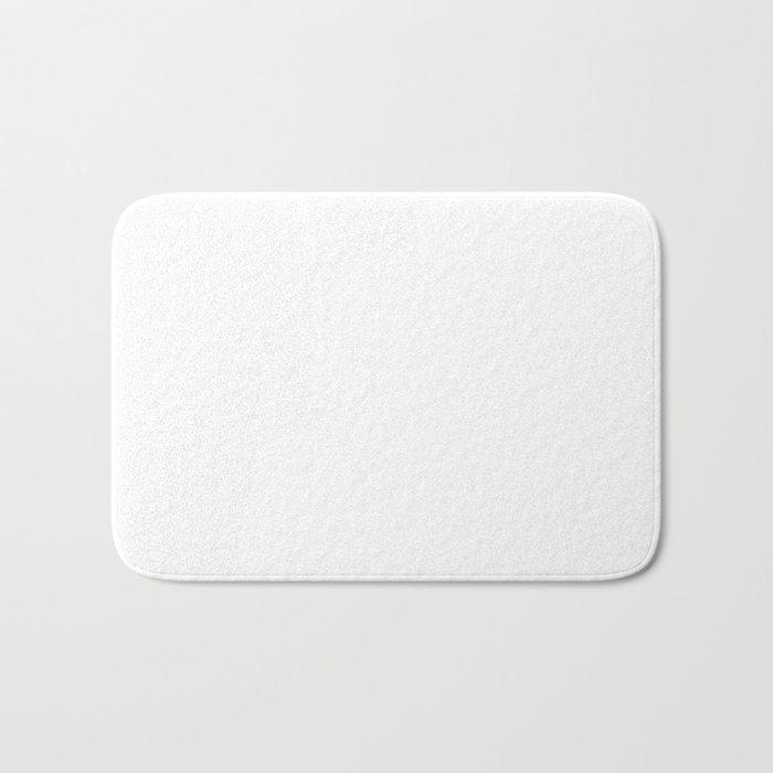 White Minimalist Solid Color Block Badematte