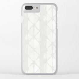 Simply Braided Chevron Lunar Gray Clear iPhone Case