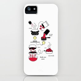 hecho con amor iPhone Case