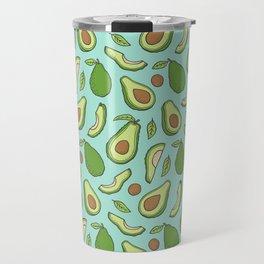 Avocado on Mint Green Travel Mug