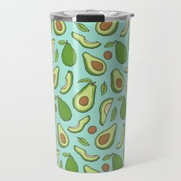 Avocado on Mint Green Travel Mug