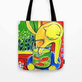Henri Matisse - Le Chat Aux Poissons Rouges 1914, (The Cat With Red Fishes) Artwork Tote Bag