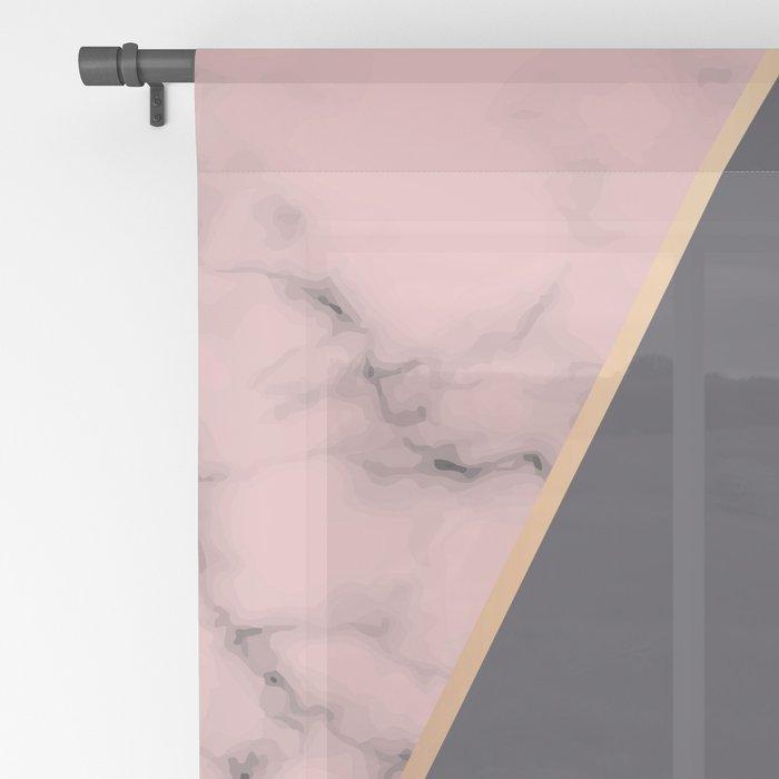 Marble Geometry 018 Sheer Curtain