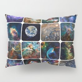 The Amazing Universe - Collection of Satellite Imagery Pillow Sham