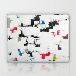 "No. 30 - Print of Original Acrylic Painting on canvas - 16"" x 20"" - (White and multi-color) Laptop & iPad Skin"