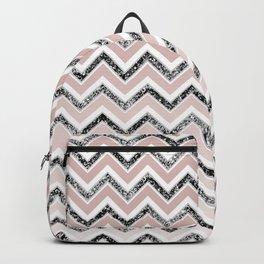 Chevron Glitter Glam #5 #shiny #decor #art #society6 Backpack