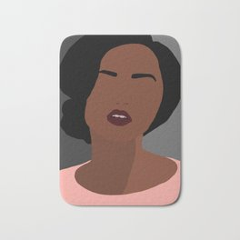 Mia - minimal, abstract portrait of an African American woman Bath Mat