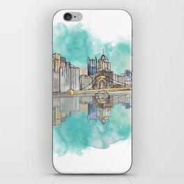 Pittsburgh Sunset iPhone Skin