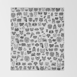 Animal Party Throw Blanket