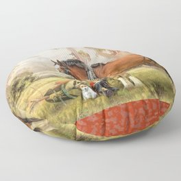 Ploughmans Lunch Floor Pillow