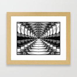 Abstract.Black+White. Framed Art Print
