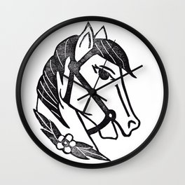 Horse Head Wall Clock