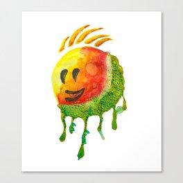 happy summer face Canvas Print