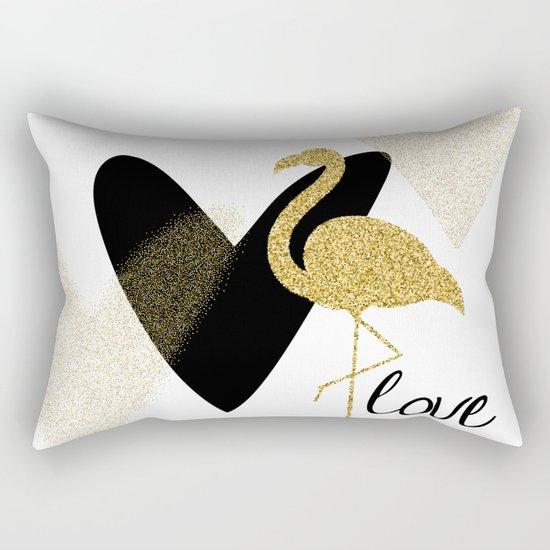 Love Flamingo Rectangular Pillow
