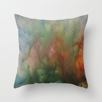 angels Throw Pillows featuring Angels by Benito Sarnelli