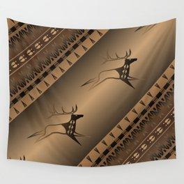Elk Spirit (Brown) Wall Tapestry