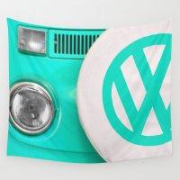 vw Wall Tapestries featuring VW Camper Van by Alice Gosling