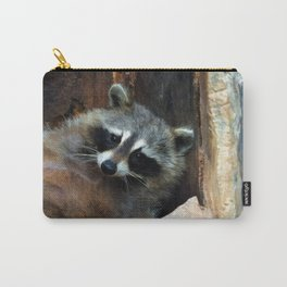 Raccoon Reclining Wildlife Photo Art Carry-All Pouch