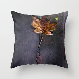 Autumn Leaves in Indiana Throw Pillow