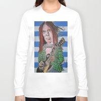 neil gaiman Long Sleeve T-shirts featuring Neil Young by Robert E. Richards
