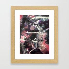 Original Abstract Painting by JodiLynpaintings. Splatter Abstract Pink Black Framed Art Print