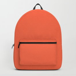 From Crayon Box – Outrageous Orange - Bright Orange Solid Color Backpack