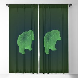 WILLIAM THE HIPPO II Blackout Curtain