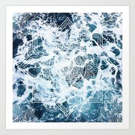 Ocean Mandala - My Wild Heart Art Print