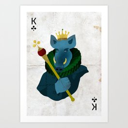 THE KING OF CLUBS Art Print