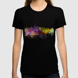 Astana skyline in watercolor background T-shirt