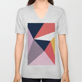 Modern Poetic Geometry Unisex V-Neck