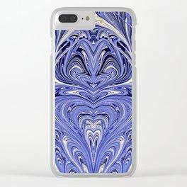 Mirror Blue Oil Gestalt Abstract II Clear iPhone Case